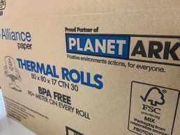 Planet Ark partnered BPA free thermal rolls