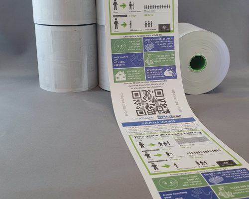 covid19 thermal receipt roll